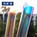 Blaze Freddo finestra pellicola Decorativa di Colore Che Cambia Iridescent Arcobaleno Effetto Autoadesivo della Finestra di 0.68 m x 15 m