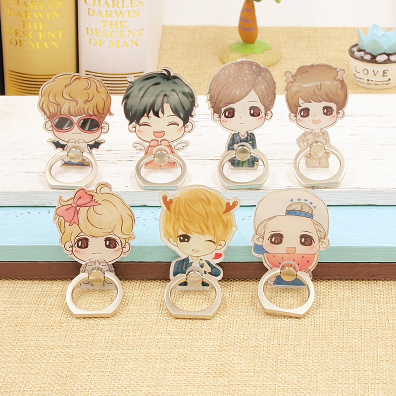 Kpop K-POP Exo Kai Suho DO D.O. LAY SEHUN CHEN TAO Album Monster Case 360 Degree Finger Rings Stand Holder ZHK exo 2nd album repackage love me right kpop