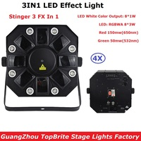 EU/US Plug New 8X3W RGBWA + 8X1W White Color LED Stage Effect Lighting With RG TWO Color 200mw Laser Lights For Party Bar Dj