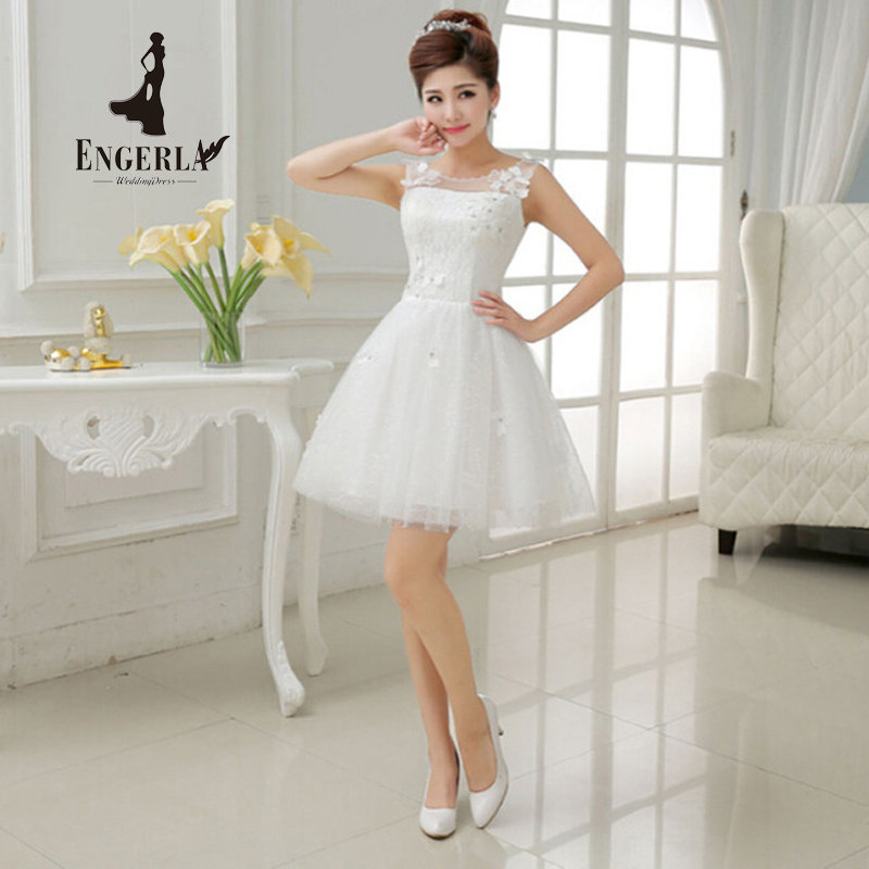 High quality flowers crystal short wedding dress tulle for Crystal design wedding dresses price