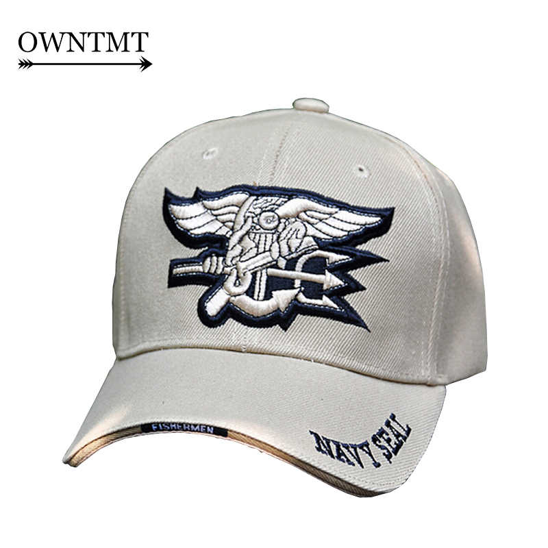 7854e8063e2b6d US Tactical Hats USNS SWAT Navy Army Special Forces Insignia NAVY Seal Hat  Eagle Trident Camo