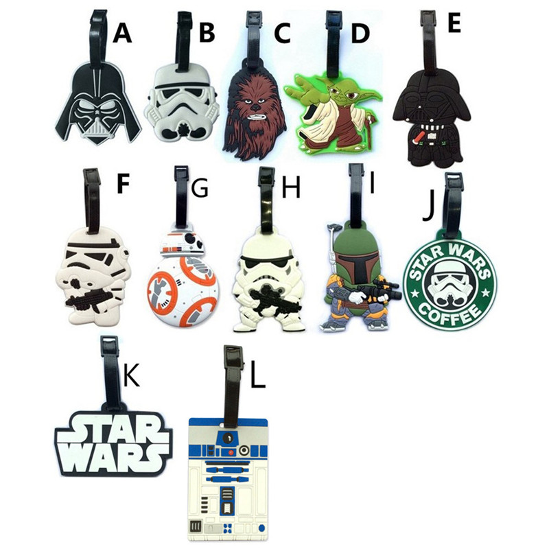 Star Wars Anime Travel Accessories Luggage Tag Suitcase ID Address Portable Tags Holder Baggage Label Gifts New