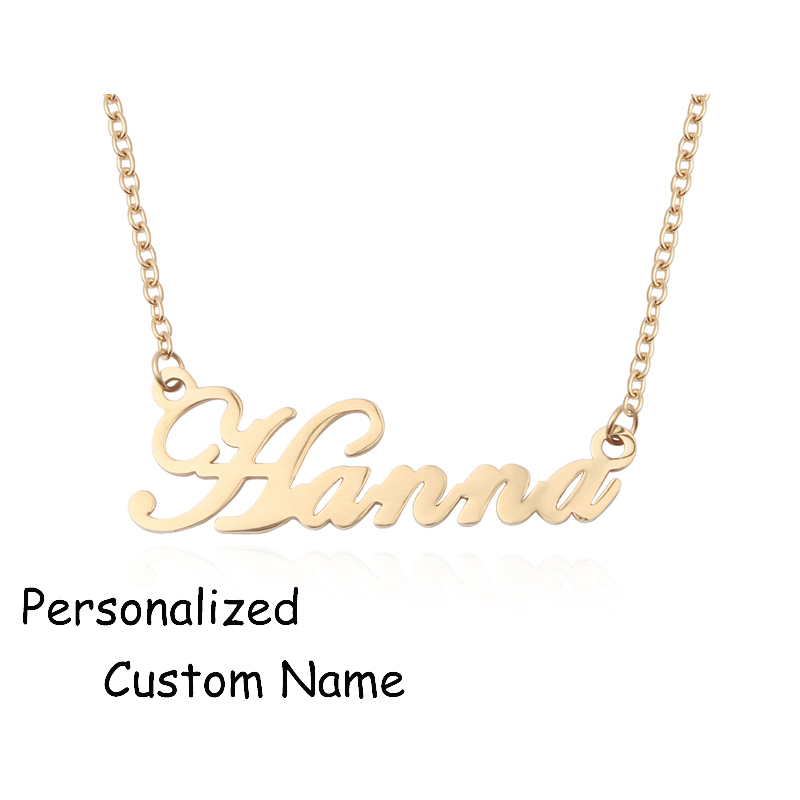 Duoying Custom Necklace Personalize Choker Necklace Women Copper Pendant Fascinating Name Necklace collier ras du cou for Etsy