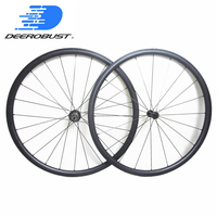 899g Only Lightest 700c 24mm x 20.5mm Carbon Tubular Road Bike Wheels Cycling Wheel set Extralite/Carbon Ti Super Light Hubs
