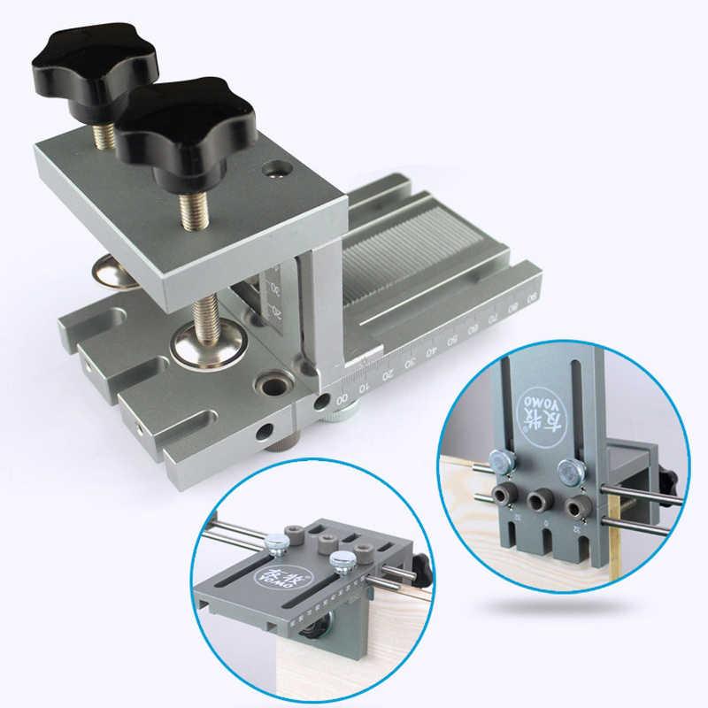 3 en 1 bricolage menuiserie trou perceuse perforateur positionneur Guide localisateur gabarit menuiserie système Kit alliage d'aluminium bois travail outil