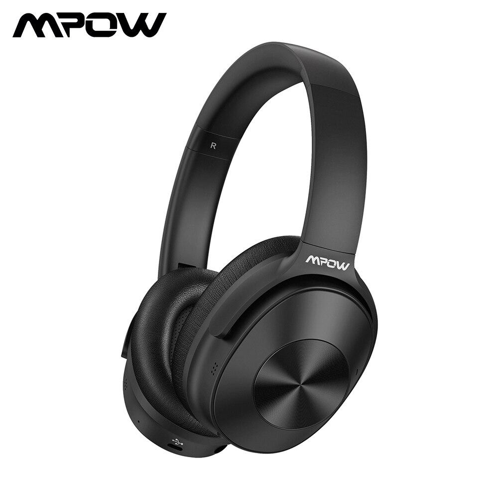 Mpow H12 ANC Fones De Ouvido Com Fio do Fone De Ouvido Active Noise Cancelling Sem Fio Bluetooth Headse Com Som de Alta Fidelidade de Graves Profundos 30H Playtime