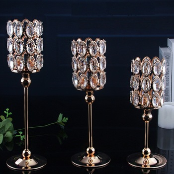 Europe metal+Crystal Candle stand Wedding Decoration candlesticks Candle Holder for table Home Decorative candles holde ZT157