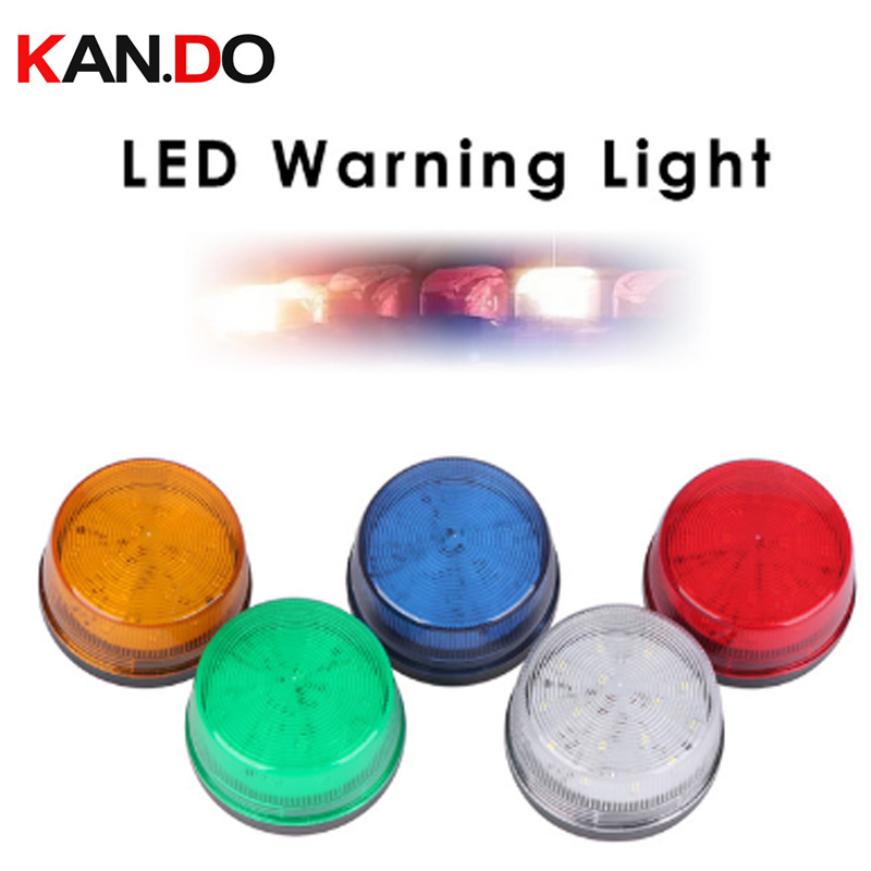 12V 120mA Indicator Signal Llight Multicolor Wired Sound Alarm Strobe Flashing LED Warning Light FIRE Siren Home Security System
