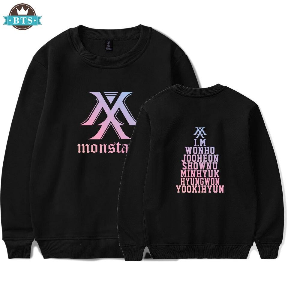 2018 Kpop Monsta X Jooheon I M Album Hoodie K Pop Casual Algodon