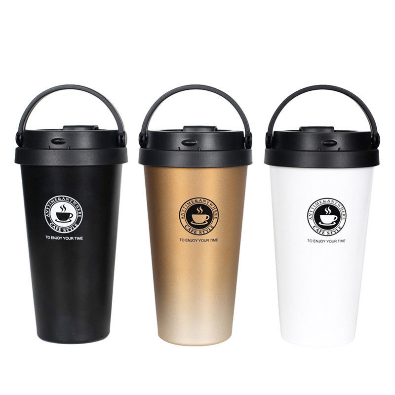 Hoshizora Vacuum Insulated Travel Coffee Mug Stainless Steel Tumbler Sweat Free Tea Cup Thermos Flask Water Bottle 500ml 17oz churrasqueira para fogão