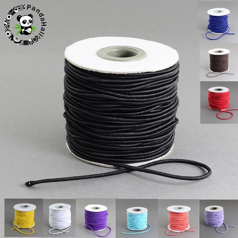 30m/40m/roll 2mm Round DIY Elastic Cord Nylon Outside Rubber Inside For Jewelry Bracelet Necklace Making