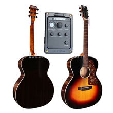 Solid Top Guitar With pickup,40 Electric Acoustic Guitar,Solid Spruce Top/Rosewood Body, guitars china With Hard case,OM Body цена