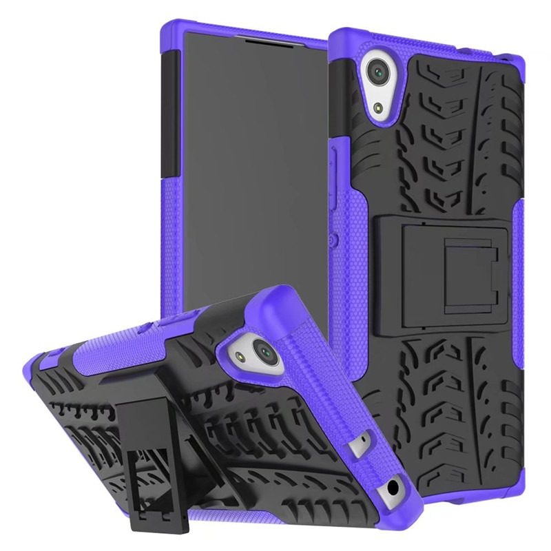 XA1 Armor Heavy Duty Hybrid Stand Case 5.0inch For Sony Xperia XA1 G3112 G3116 G3121 G3123 G3125 Daul Color Cover Defender