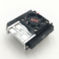 1PC Simulation Motor Cooling Fan CNC Motor Heat Sink D36mm 540/550 Motors Radiator for 1:10 D90 SCX10 II RC Cars Modified Parts