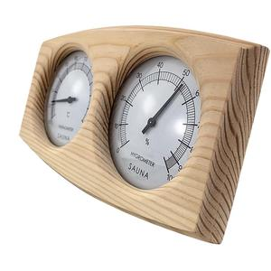 Image 5 - Sauna Room Thermometer Hygrometer Wooden Double Pointer Hygrothermograph Humidity Measurement 20 To 40 Degrees Celsius