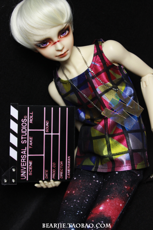 Colourful Street Style Casual Tank Top Sleeveless T-shir For 1/4 MSD,1/3,SD17, Uncle, SSDF BJD SD Doll uncle 1 3 1 4 1 6 doll accessories for bjd sd bjd eyelashes for doll 1 pair tx 03