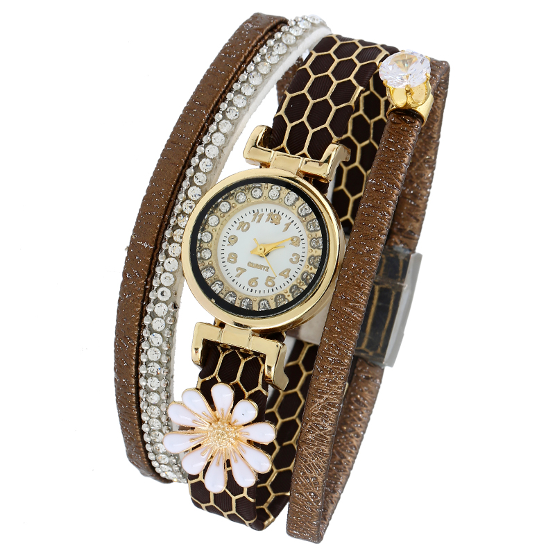 Gnova Platinum Fashion Crystal Strap Bracelet Watch Women