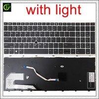 English Backlit original Keyboard for HP EliteBook 850 855 G5 ZBOOK 15U G5 US with mouse point L14366-001