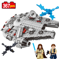 LELE 79213 Series Star Wars Model Kits Millennium Falcon Force Awakens 367Pcs Small Size Model Building