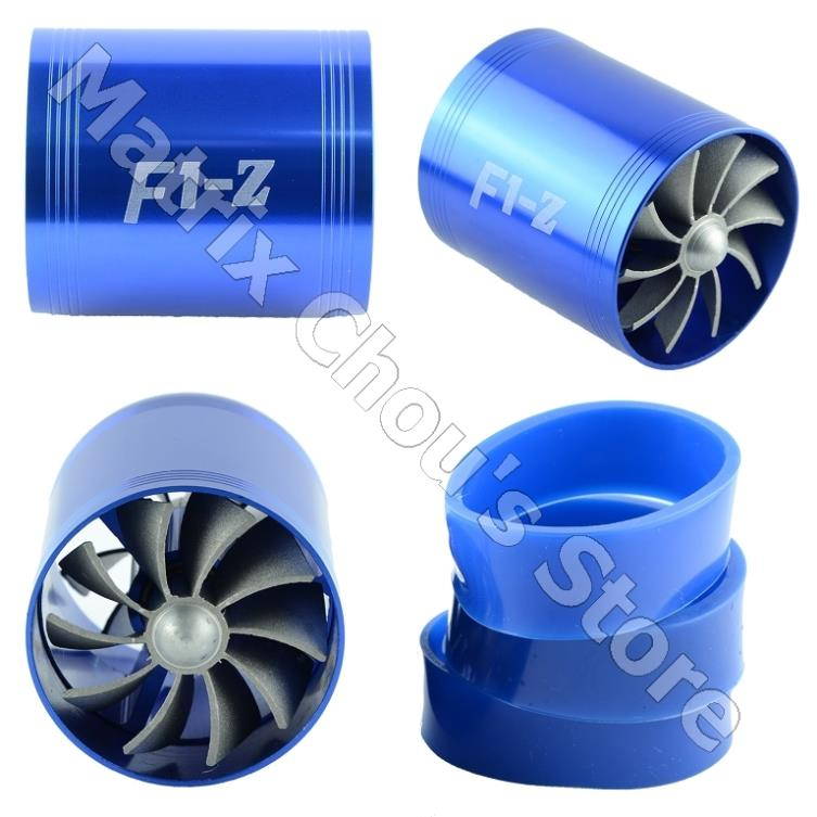 F1-Z Car Air Intake Double Fan Turbine Power Launcher Fuel Saver