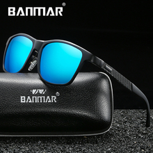 BANMAR Unisex Retro Aluminum Magnesium Brand Sunglasses Polarized Lens Vintage Eyewear Accessories Sun Glasses Men/Women