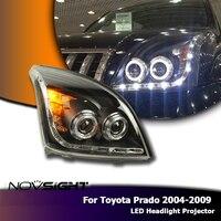 NOVSIGHT автомобиля светодиодный фар сборки LED DRL Противотуманные фары дневного света для Toyota Prado 2004 2009