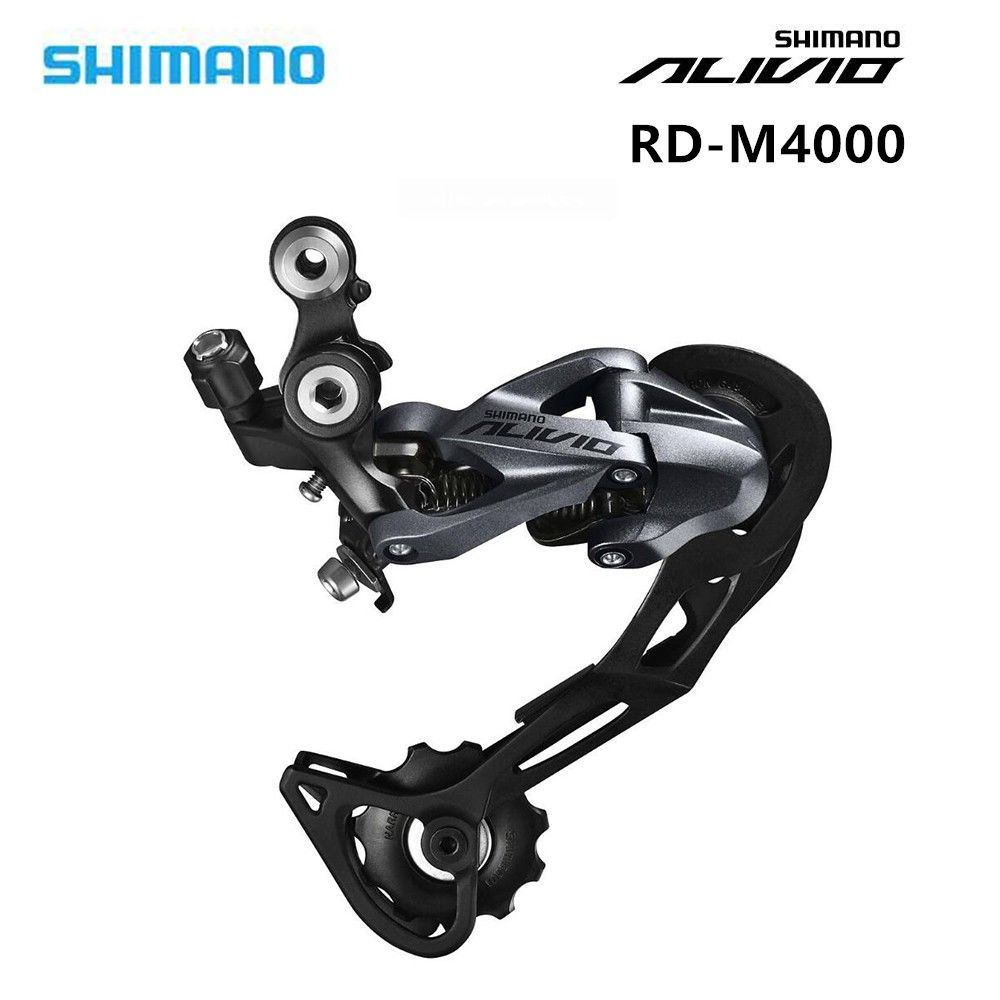 Reliable Original Shimano Alivio Bicycle Rd-m4000 9-speed Mountain Bike Rear Derailleur 27 Speed Black Careful Calculation And Strict Budgeting Bicycle Parts