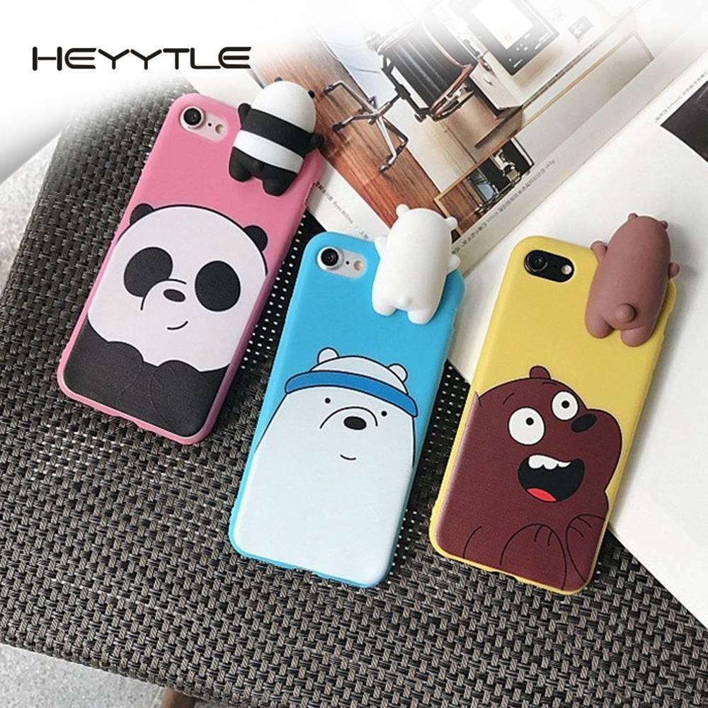 6c4825456d 3D Squishy Bear Panda Phone Cover Cute Stress Reliever Back Cover Soft TPU  Case