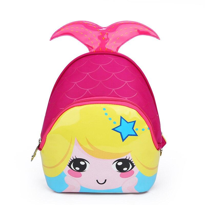 2018 3D 1 3 Year Old School Bags For Girls Waterproof Backpacks Child Mermaid Book Bag Kids Shoulder Bag Satchel Knapsack