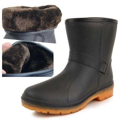 2017 Мужчины сапоги утолщение тепловые водонепроницаемые ботинки снега хлопок сапоги gaotong уличной обуви зимние ботинки Rainshoe