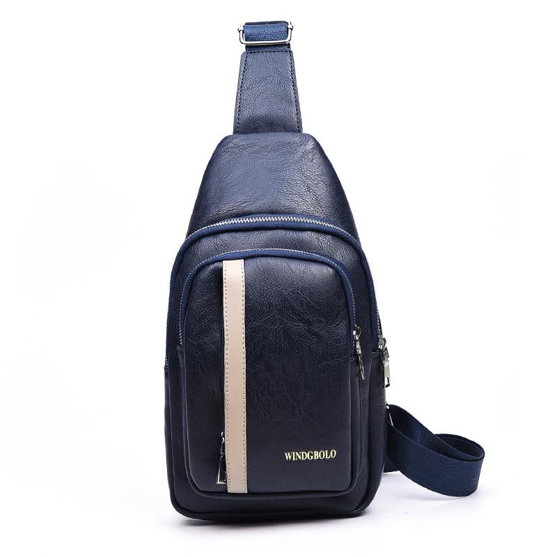 Leather brown blu Da Nero Torace Uomini E Casuale Mbg14 Arrivo Nuovo Viaggio Pacco Il Donne Borse Petto Pu Messenger Bag Di Affari 616q8AxwR