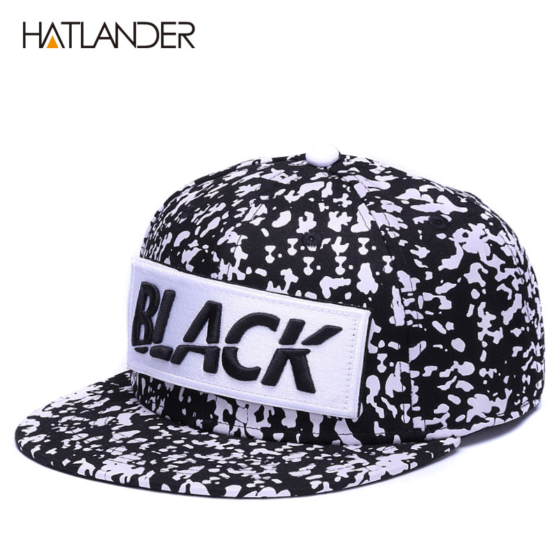 HATLANDER Embroidery black   baseball     caps   letters snapback   cap   6panels bone gottas outdoor cool hip hop   cap   cotton sports hats