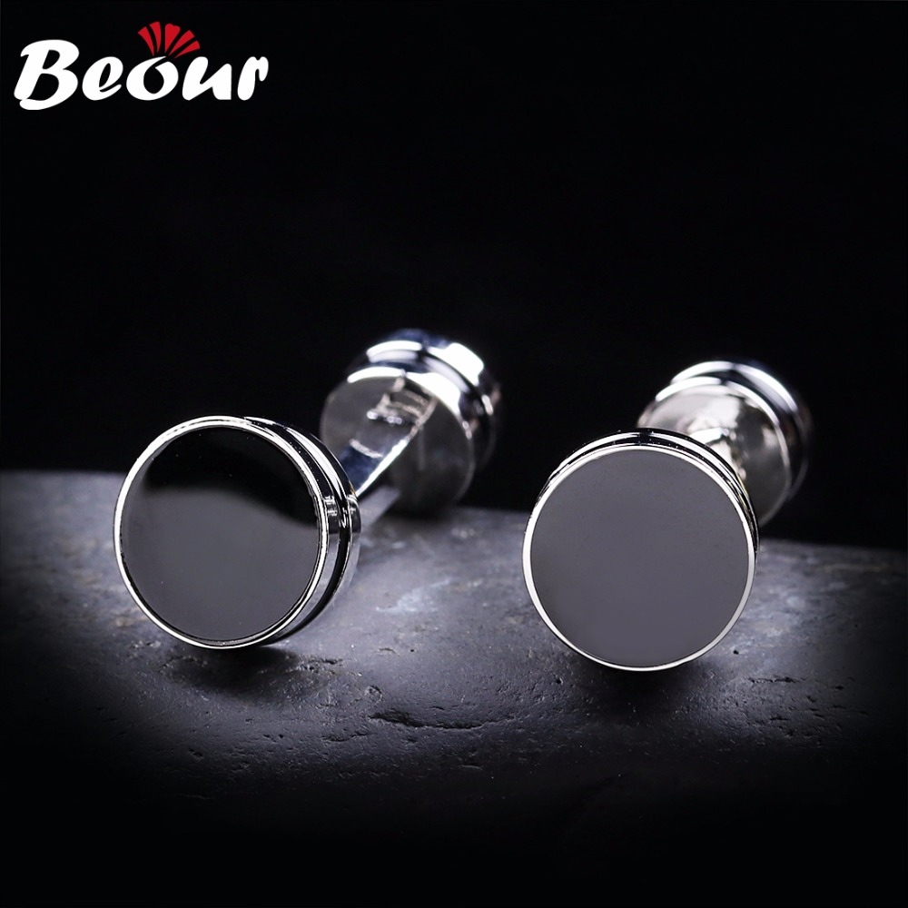 Aliexpress buy easter gift classic black round enamel aliexpress buy easter gift classic black round enamel cufflinks luxury mens cufflinks brand free shipping from reliable brand cufflinks suppliers on negle Gallery