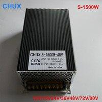 Regulated 1500W Switch Power Supply 12V 15V 24V 36V 48V 72V 90V Driver Transformer 110V 220V AC DC SMPS CNC CCTV 3D Printer