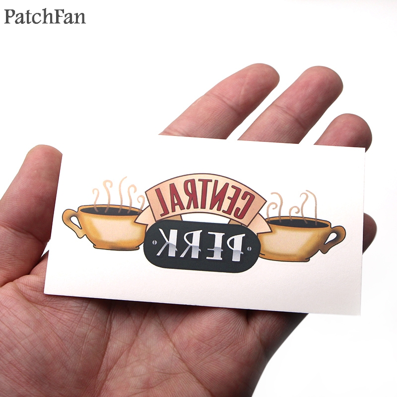 2pcs Patchfan Friends tv show certral perk photo frame Temporary Body Art Tattoo Sticker Shoulder Arm diy Makeup cosplay A1513 in Stickers from Home Garden