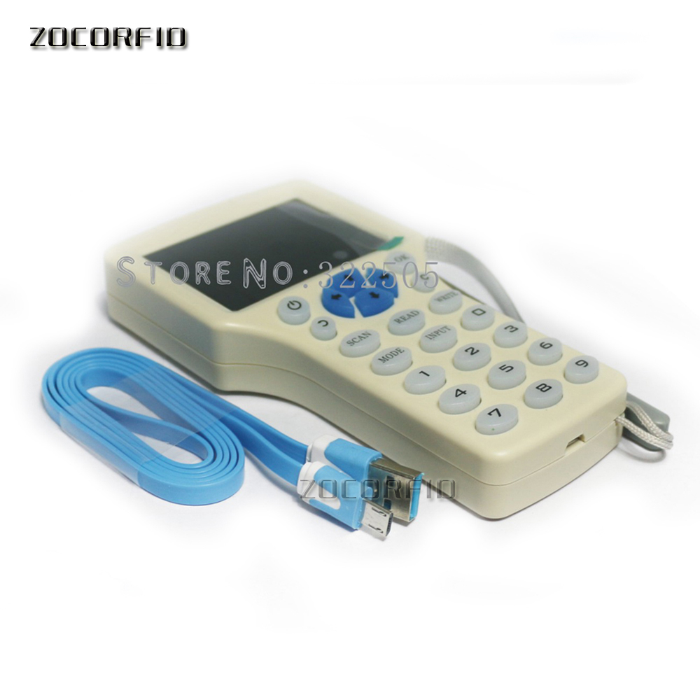 English 10 Frequency RFID Copier ID IC Reader Writer Copy M1 13.56MHZ Encrypted Duplicator Programmer USB Ports
