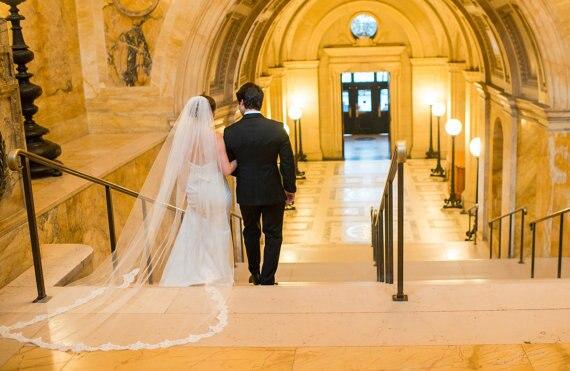 "White Cathedral Veil Alencon Lace Wedding Veil, Bridal Veil Chapel Veil 108"" Long / 72"" Wide"
