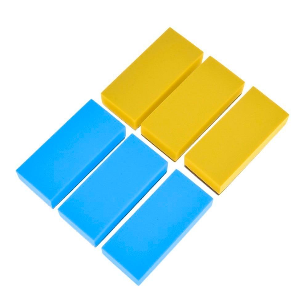 6 PCS Car Wash Foam Lacquer Coating Sponges Car Maintenance Waxing Sponge for glass ceramic coating applicator Car Cleaning