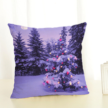 christian style linen pillow case christmas tree cushion cover sailing mermaid for sofa home decorative throw - Christmas Tree Cover
