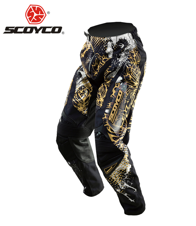 SCOYCO Professional Motocross Off-Road Racing Hip Pads Pants Motorcycle Dirt Bike MTB DH MX Riding Trousers Breathable Clothing scoyco mens motorcycle pants racing trousers winter summer p028