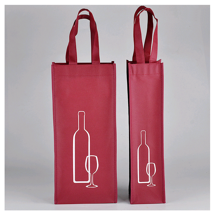 Non Woven Wine Bottle Bags 34x18x10cm 13.4inches Fabric Bags Dust Cover Market Shop Compamy Advertisment Promotion Gift Bags