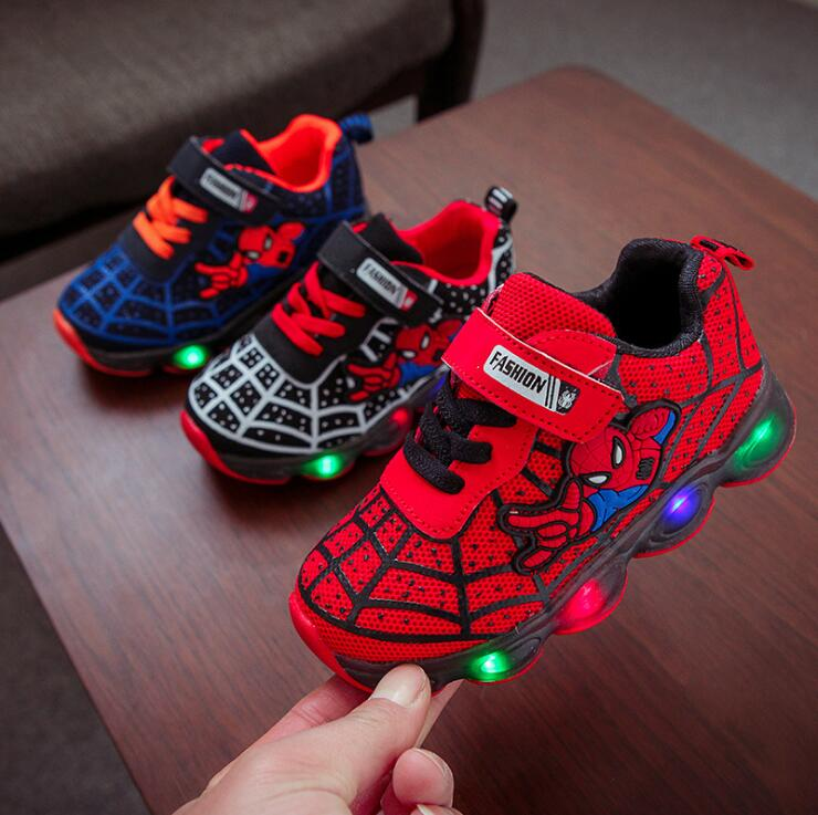 Boys Girls Kids Shoes Luminous Glowing Led Children Shoes Lighted Led Baby Kids Sneakers Mesh Sport Shoes Size 21-36