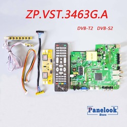 New ZP.VST.3463G.A Universal Digital Driver Board Supports DVB-T2 / DVB-S2 / DVB-C+7 Key Switch+4 Lamp Inverter+LVDS+Dupont