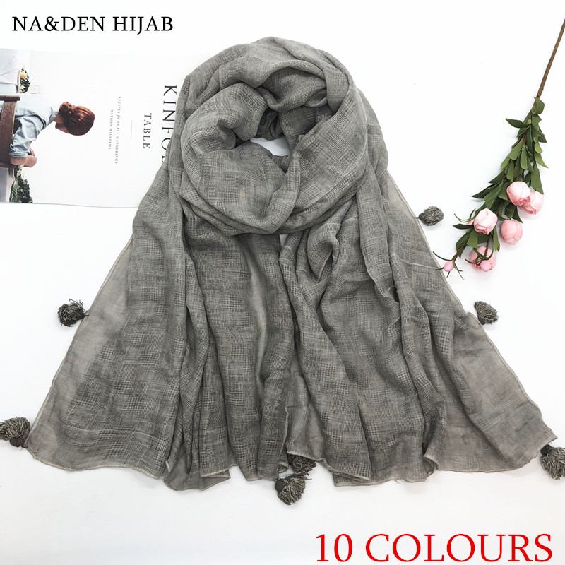 Large-sized ball plumes design women's shawl sells pure color scarves Elegant fashion, women hijab 200*100cm fast shipping 10pc
