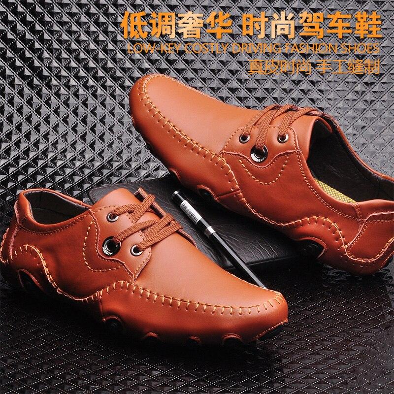 Chaussure Slip Leer Chaussures Mocassins Heren Schoenen 47 Mâle Social Brown Adulte Homme Topsaydery Luxe Marque Hommes black De Taille t1r5twxqa0
