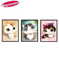 5D CDIY Diamond Painting Diamond Mosaic Bedroom Cartoon Animals Cute Cat Point Diamond Paste Diamond Embroidery