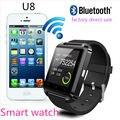 Mais barato smart watch u8 smartwatch bluetooth relógio de pulso relógio do esporte digital para android samsung telefone electronic device wearable
