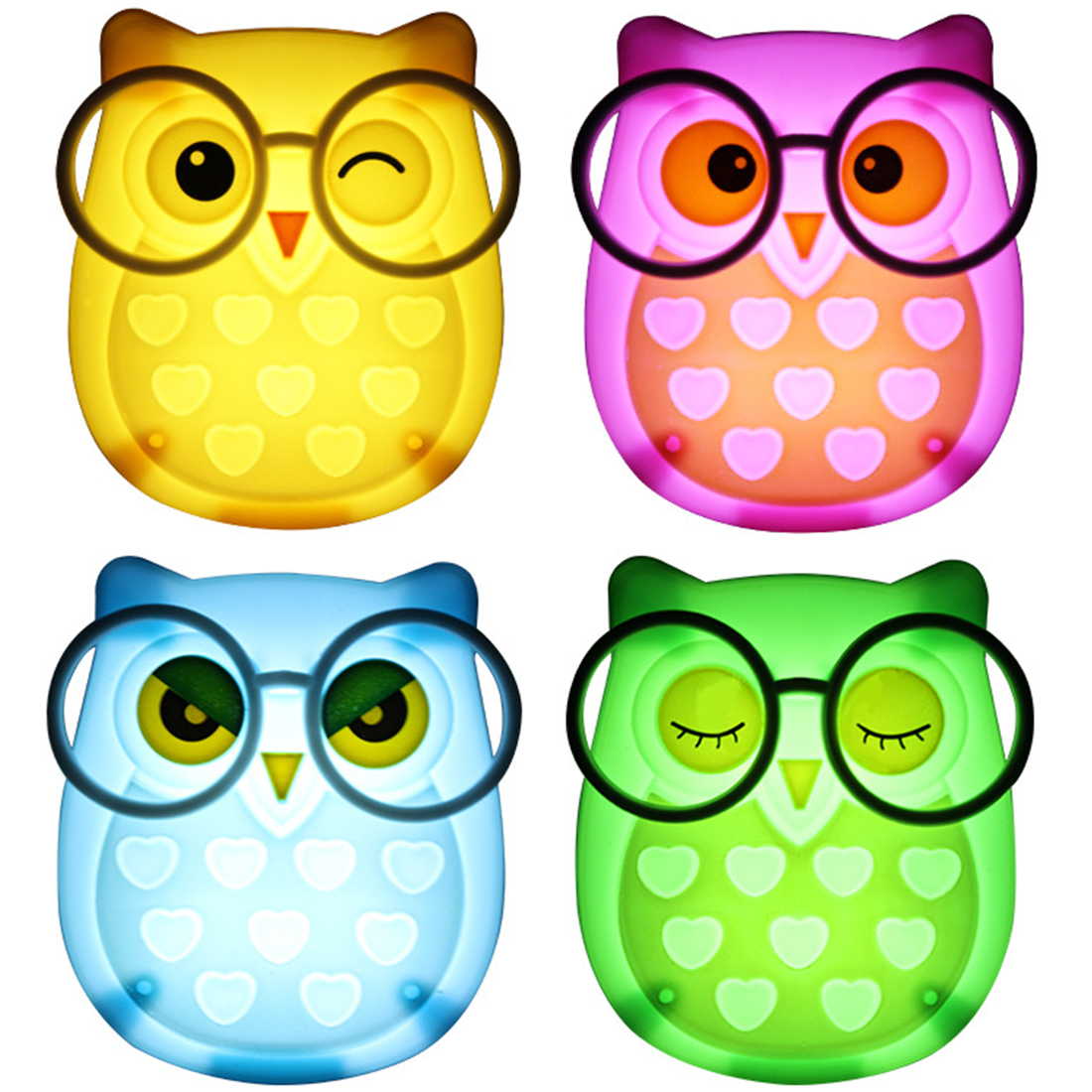 Owl Strawberry Rabbit Like Light Control Night Light Auto Sensor Light Control Lamp US Plug Child Kids Baby Lighting Room Lamp