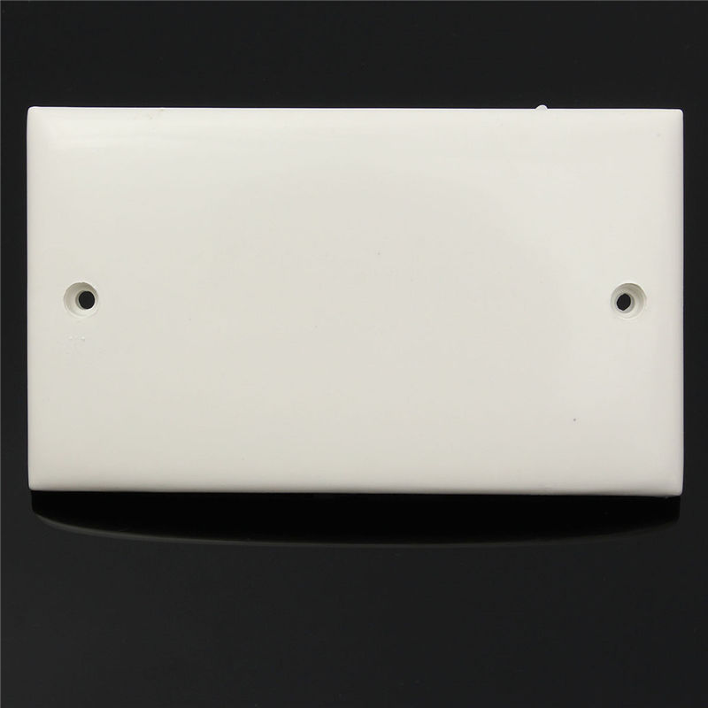 80 138mm Plastic Plug Electrical Mains Wall Socket Blanking Plate Cover For Home Household Decoration