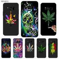 P242 Weed Art Black Silicone Case Cover For Samsung Galaxy S5 S6 S7 S8 S9 S10 5G S10E Lite Edge Plus